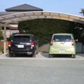 リクシル製 カーポート ネスカRワイドタイプ : 吉田町
