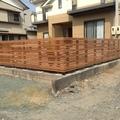 木製フェンス 丈夫なセランガンバツ材:吉田町